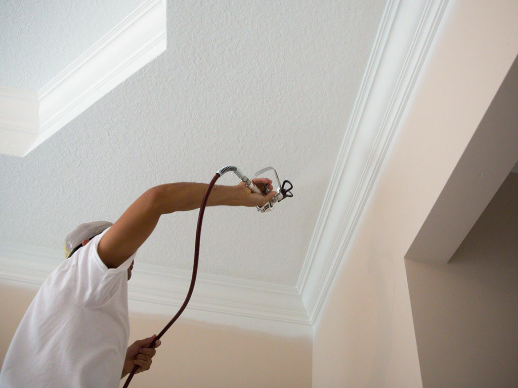 NextGen Painter spraying crown molding